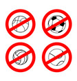 stop sport games prohibited football red vector image