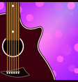 musical banner with a guitar vector image