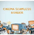 Cinema sketch seamless border vector image