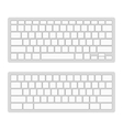 Computer Keyboard Blank Template Set vector image