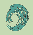 wave circle isolated background colored vector image