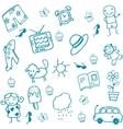 Toy set doodle art for kids vector image