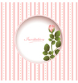 Wedding greetings or invitation card vector image vector image