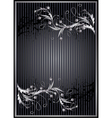 Striped background with silver ornament vector image