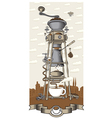 Coffee house in the city vector image