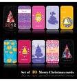 Set of ten New Year cards vector image
