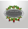 Christmas greeting and invitation card vector image