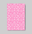 cute valentines day greeting card in sketch style vector image