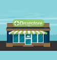 facade of pharmacy flat vector image