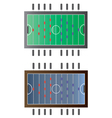 Game room Foot ball table top view vector image
