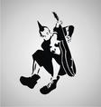Punk Guitarist Stencil vector image