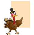 thanksgiving turkey with blank sign vector image