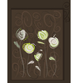 Abstract roses postcard vector image