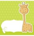 baby boy announcement card vector image