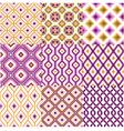seamless retro geometric wallpaper vector image