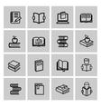 black book icons set vector image