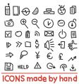 icons made by hand vector image vector image