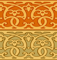 3 Set of decorative borders vintage style gold vector image