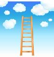 ladder in sky vector image vector image