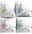 Abstract musical notes background vector image