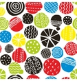 Colorful seamless pattern with decorative circles vector image