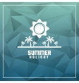 Summer design palm tree icon polygon design vector image