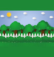 forest landscape nature background paper art vector image