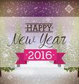happy new year 2016 vector image