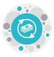 of financial symbol on money vector image