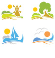 signs - summer sea nature vector image