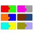 Six parts of color puzzle A vector image