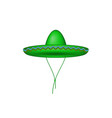 Sombrero hat in green design vector image