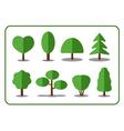 Tree icons set 2 vector image