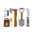 Camping tools vector image