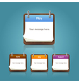 Calendar 2013 template notepad conceptual Vector Image