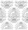 Seamless Pattern of Buddha Lotus light and Tiger vector image