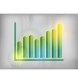 business graph grey up vector image vector image