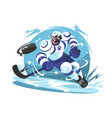ice hockey team player vector image