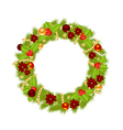 fir wreath 2311 vector image