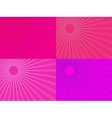 The pink rays of the sun Eps 10 vector image