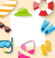 Summer Traveling Card with Beach Elements vector image vector image