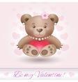 Beautiful Teddy bear girl in love vector image