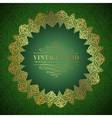 Golden damask circle vector image