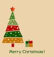 modern creative christmas greeting card design vector image