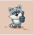 Raccoon cub thumb up vector image