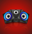 Realistic music speaker vector image