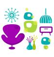 Retro furniture vector image