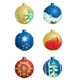 set of christmas decorative balls vector image