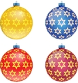 Set of colorful Christmas balls vector image