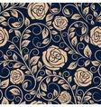 Vintage roses flowers seamless pattern vector image